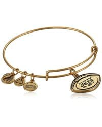"ALEX AND ANI - ""nfl"" New York Jets Football Expandable Wire Bangle Bracelet, 7.5"" - Lyst"
