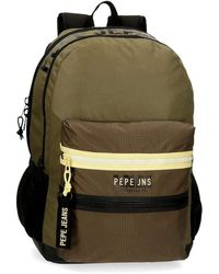 Pepe Jeans Caden Two Compartment Adaptable Backpack - Green