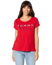 Tommy Hilfiger Cn Tee Ss Pyjama Top - Red