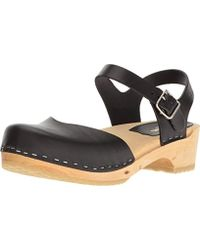 Swedish Hasbeens - Covered Low Flat Sandal - Lyst