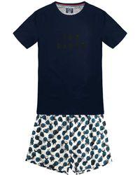 Ted Baker Kurzer Pyjama Pyjamaset - Blau