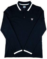 Guess Long Sleeve Polo Shirt Black M