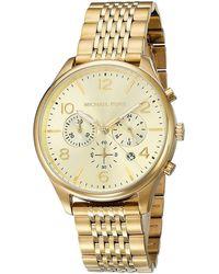 Michael Kors Chronograph Quarz Uhr mit Edelstahl Armband MK8638 - Mettallic