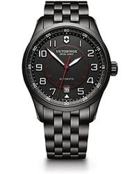 Victorinox - 'airboss Edition' Automatic Stainless Steel Aviator Watch, Color:black (model: 241740) - Lyst