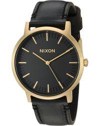 Nixon Analog Japanese Quartz Watch With Leather Calfskin Strap A1058513 - Multicolour