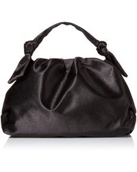 The Drop @lucyswhims Satin Knotted Handle Bag - Black