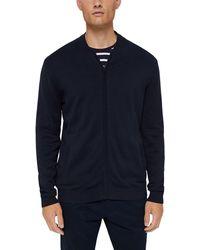 Esprit Cardigan zippé en 100% Coton Bio - Bleu