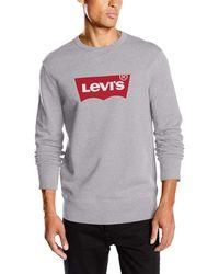 Levi's Sudadera con logo estampado - Gris