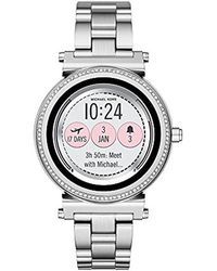 Michael Kors - Access Sofie Silvertone Touchscreen Smart Watch - Lyst