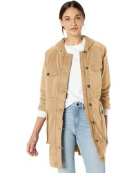 Goodthreads Hooded Utility Jacket Tan - Natural