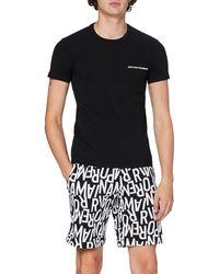Emporio Armani Underwear Pyjamas All Over Logo Ensemble - Noir