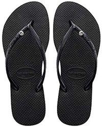 Havaianas - Slim Crystal Glamour Swarovski Flip Flops - Lyst