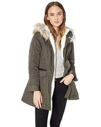 d4407bf0100 Parka With Faux Fur Lined Hood - Green
