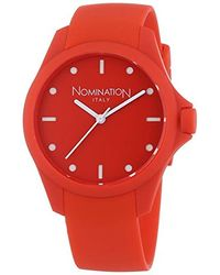 Nomination Pure Quartz Watch With Analogue Quartz Silicone 071200/002 - Red