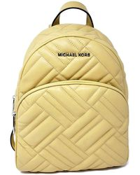 Michael Kors MICHAEL Abbey Medium Quilted Leather Backpack Dusty Daisy Yellow - Gelb