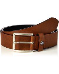GANT D1 Logo Leather Belt - Brown