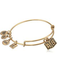 ALEX AND ANI - Charity By Design Baby Block Bangle Bracelet - Lyst