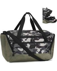 Skechers Gym Sports Duffel Bag 39l With Shoes Compartment - Black