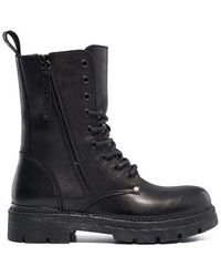 Replay - Standing Lace Up Leather Μποτακια Γυναικεια Μαυρα Black in Size 37 - Lyst