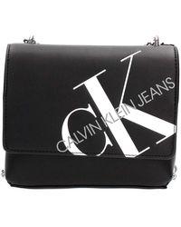 Calvin Klein Square Flap Crossbody Black - Noir