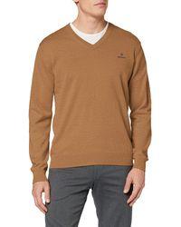 GANT Classic Cotton V-Neck Pullover - Mehrfarbig