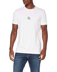 Calvin Klein Center Monogram tee Camisa - Negro