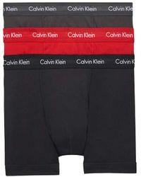 Calvin Klein Pack de 3 bóxers de tiro medio - Cotton - Azul