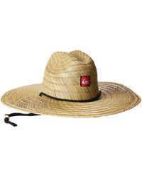 Quiksilver S Pierside Straw Sun Hat - Natural