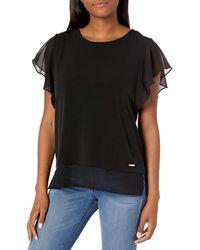 Calvin Klein Sleeveless Blouse - Black