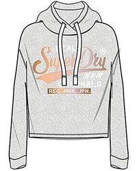 Crop Originals Real À Capuche Femme Sweat Satin College Hood Shirt SzMVqpU