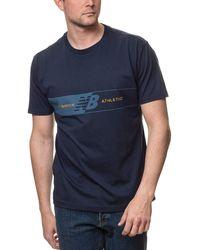 New Balance Nb Athletics Keyline T-Shirt - Blau