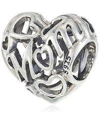 PANDORA Bead Loving Mom, offen gearbeitet 925 Silber - Mettallic