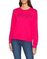 Block Logo Blue Sweatshirt Lyst Wrangler In PdTzvPq
