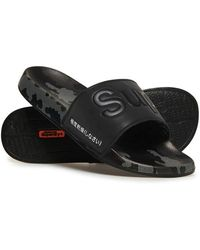 Superdry AOP Beach Slide - Noir