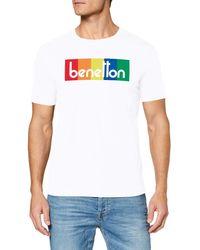 Benetton T-shirt Kniited Tank Top - White