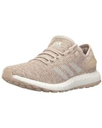 Pureboost Clima Running Shoe, Clear Chalk Whiteclay Brown, 10.5 M Us