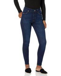 The Drop Fairfax Jean 7/8 skinny taille haute pour - Bleu