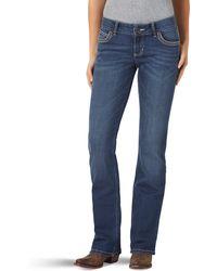 Wrangler Retro Sadie Low Rise Stretch Boot Cut Jean - Blu