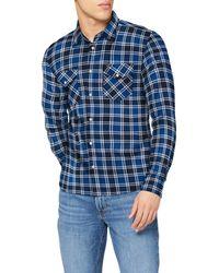 Lee Jeans Clean Western Shirt Camicia - Blu