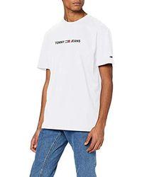 Tommy Hilfiger Tjm Straight Small Logo Tee Maglietta Sportiva Uomo - Bianco