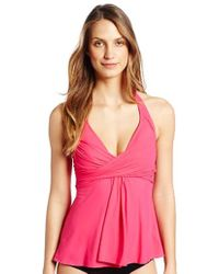 Gottex - Lattice Flyaway Halter Tankini Top - Lyst