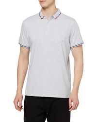 HIKARO Amazon Brand Polo Business ches Courtes Tee Top Breathable Casual Work Sports Golf Polo T-Shirts pour s Floral Grey - Gris