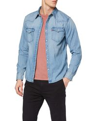 Levi's Barstow Western Standard Chemise Casual - Bleu