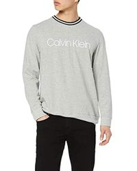 Calvin Klein L/S Sweatshirt Felpa Uomo - Grigio