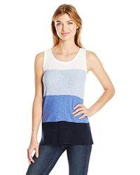 Jones New York - Color Blocked Sweater Tank - Lyst