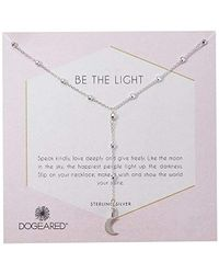 Dogeared - S Be The Light, Sparkle Cresent Y-necklace - Lyst