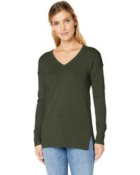 Amazon Essentials Jersey ligero tipo túnica con cuello en V para mujer - Verde