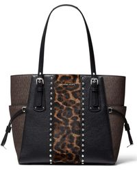 Michael Kors Michael Voyager East/west Tote Brown Multi One Size