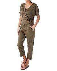 Michael Stars - Chelan Short Sleeve Cropped Jumpsuit - Lyst
