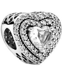 PANDORA Ciondolo a forma di cuore in argento Sterling - Metallizzato
